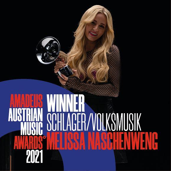Melissa Naschenweng gewinnt Amadeus in der Kategor Schlager/Volksmusik